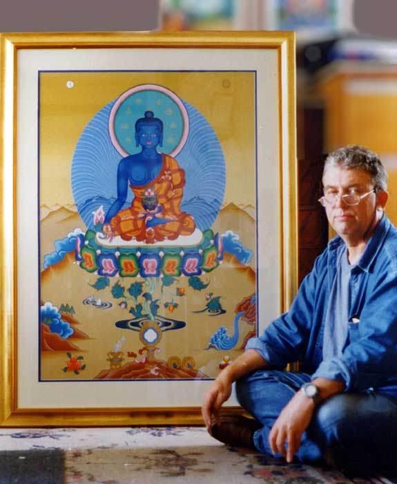 Энди с Буддой Медицины