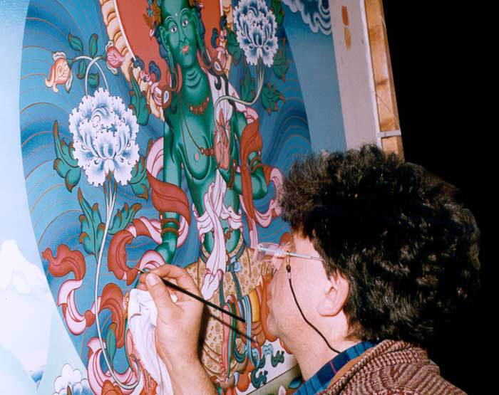 Работа над изображением Зеленой Тары