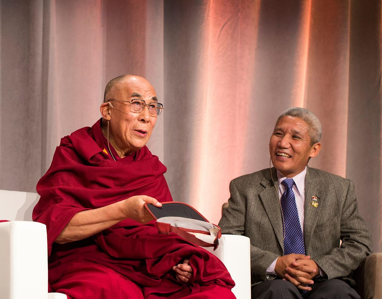 Далай-лама и Тубтен Джинпа