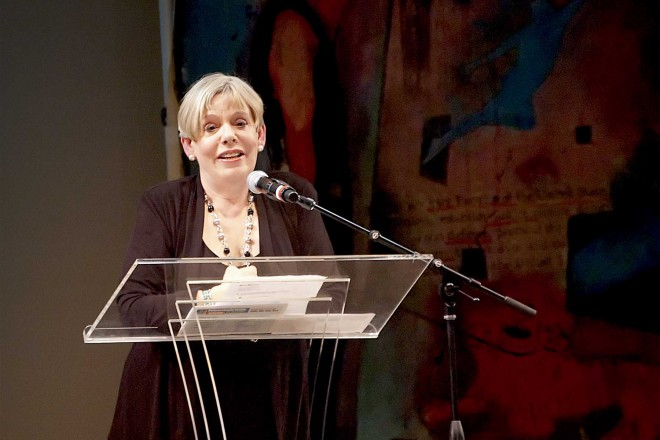 Karen Armstrong speaking at the Compassionate Seattle event, Seattle, 24 April 2010